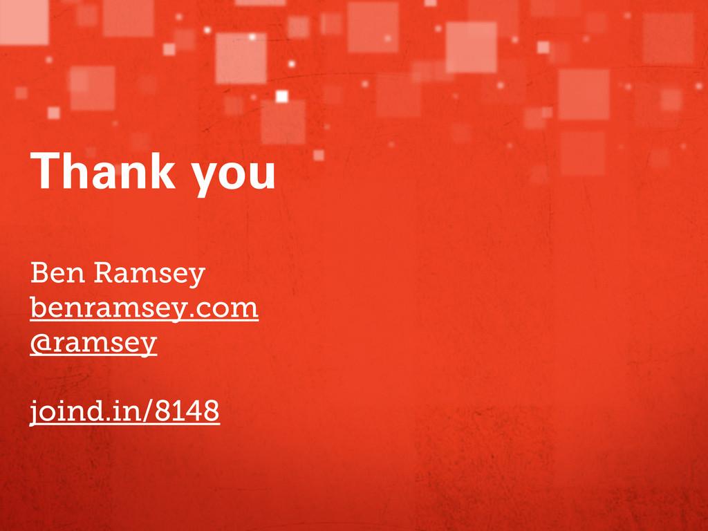 Ben Ramsey benramsey.com @ramsey joind.in/8148 ...