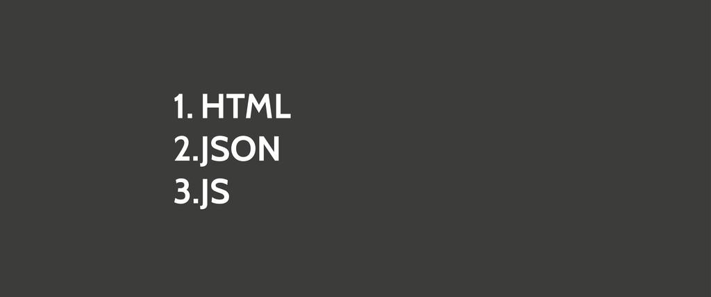 1. HTML 2.JSON 3.JS