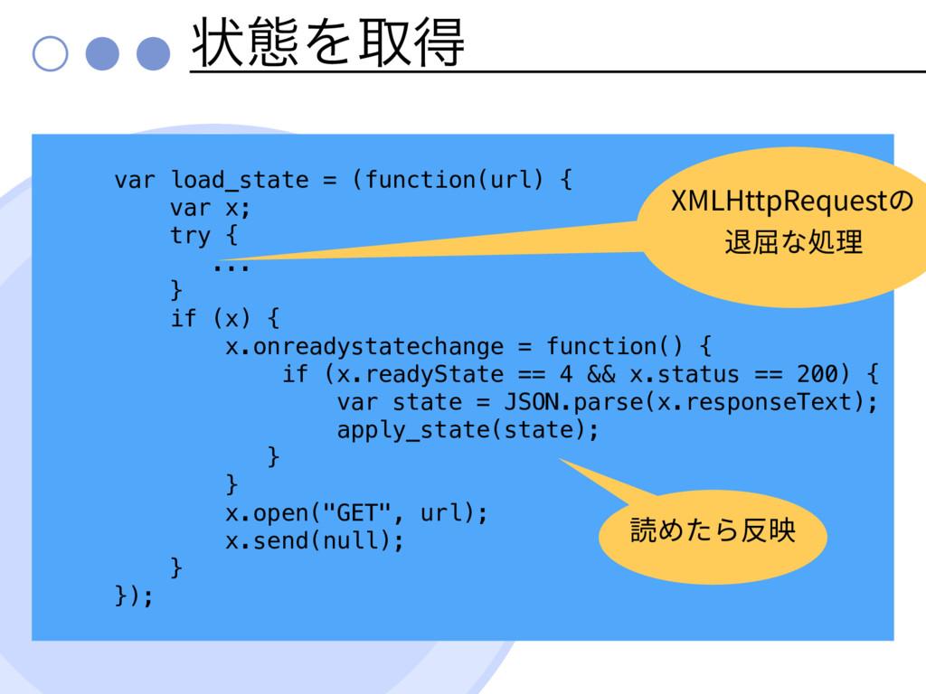 ঢ়ଶΛऔಘ var load_state = (function(url) { var x; ...
