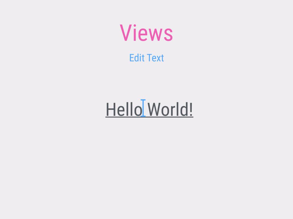 Views Hello World! Edit Text