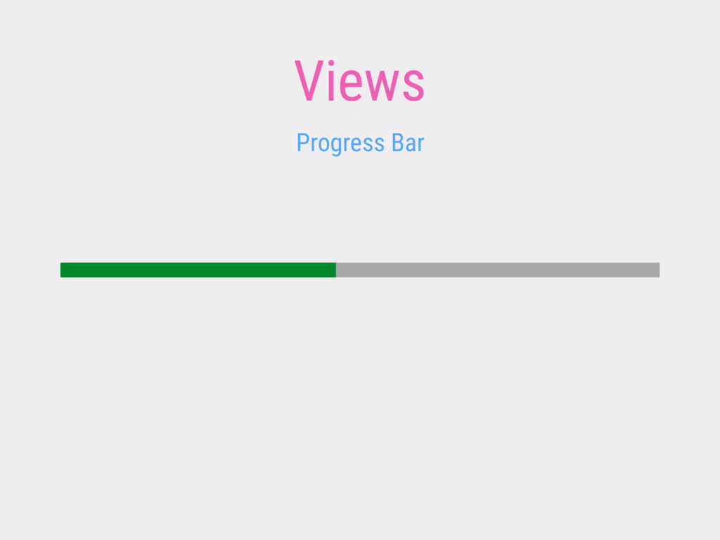 Views Progress Bar