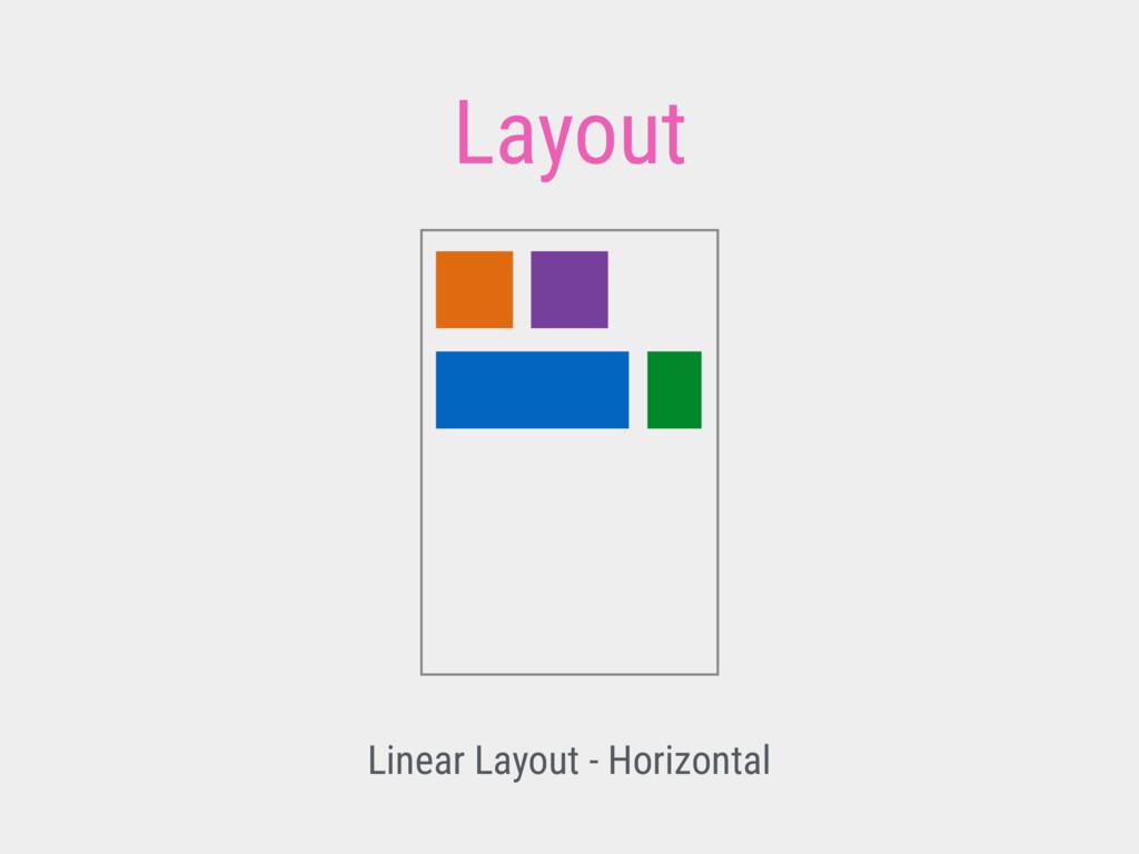 Layout Linear Layout - Horizontal