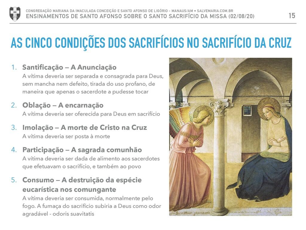 AS CINCO CONDIÇÕES DOS SACRIFÍCIOS NO SACRIFÍCI...