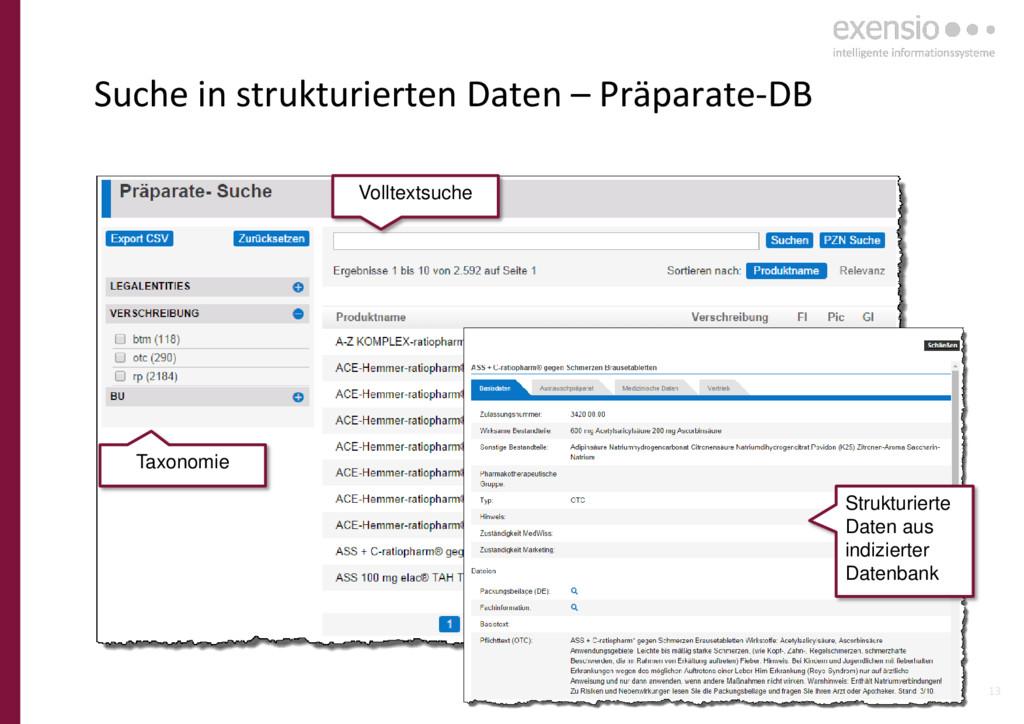 13 Suche in strukturierten Daten – Präparate-DB...