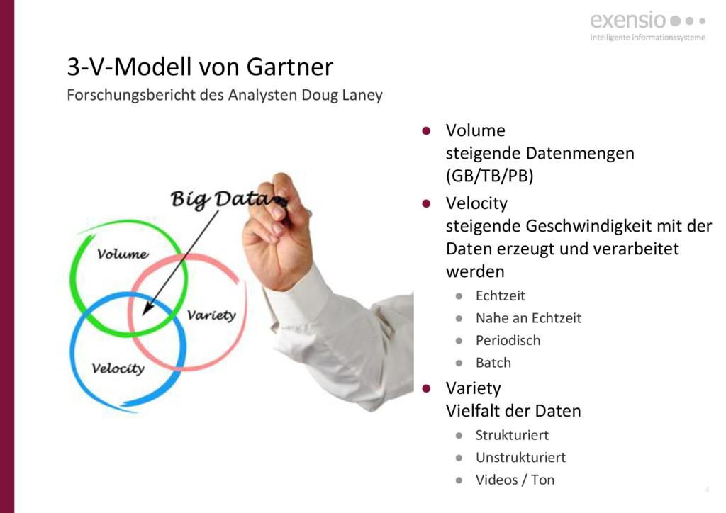 4 3-V-Modell von Gartner ● Volume steigende Dat...