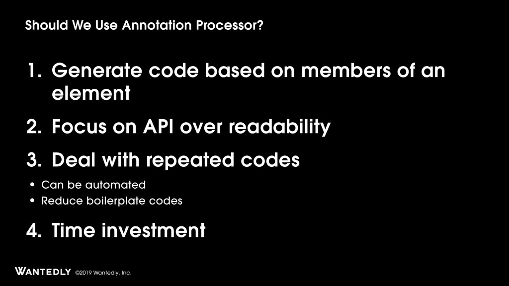 ©2019 Wantedly, Inc. 1. Generate code based on ...