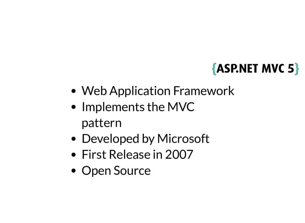 { {ASP.NET MVC 5 ASP.NET MVC 5} } Web Applicati...