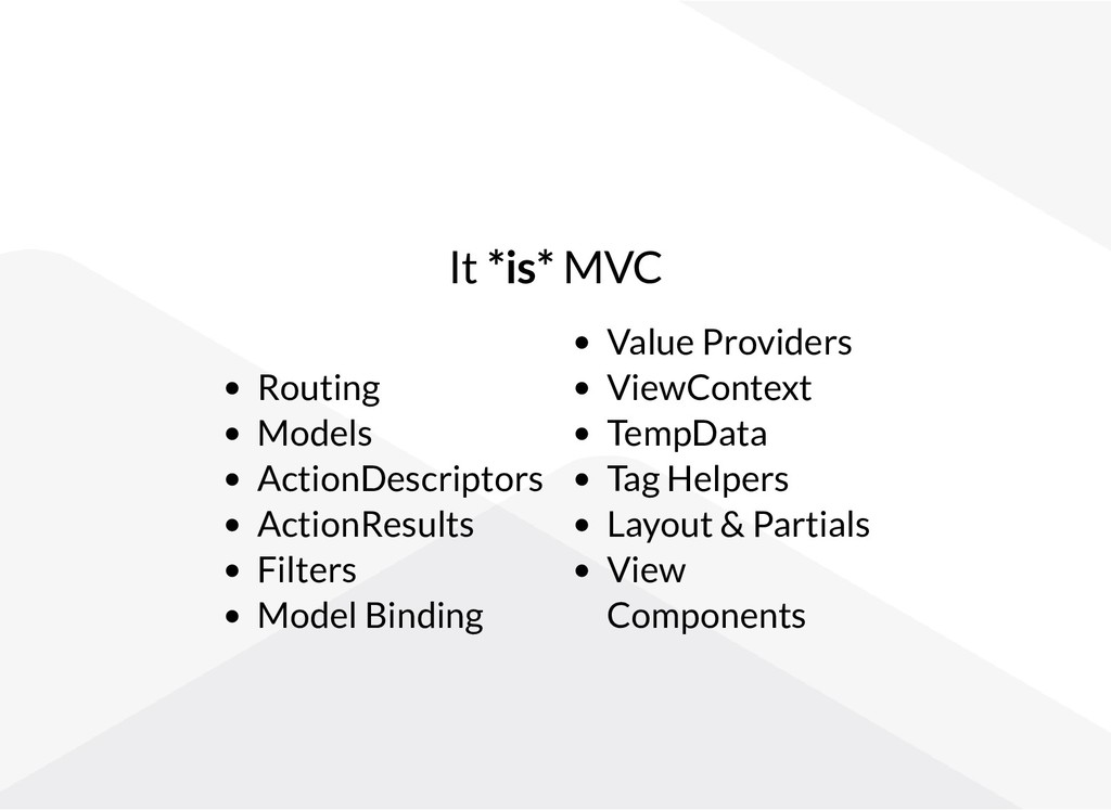 It *is* MVC Routing Models ActionDescriptors Ac...