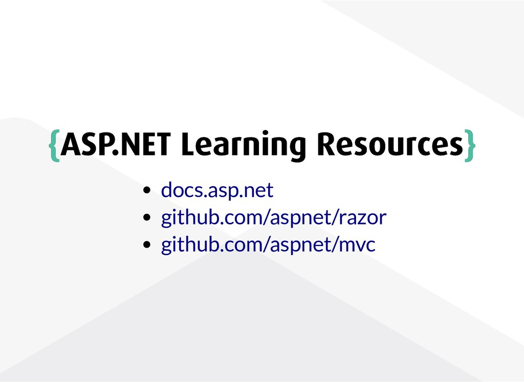 { {ASP.NET Learning Resources ASP.NET Learning ...