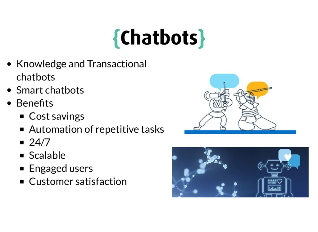 Knowledge and Transactional chatbots Smart chat...