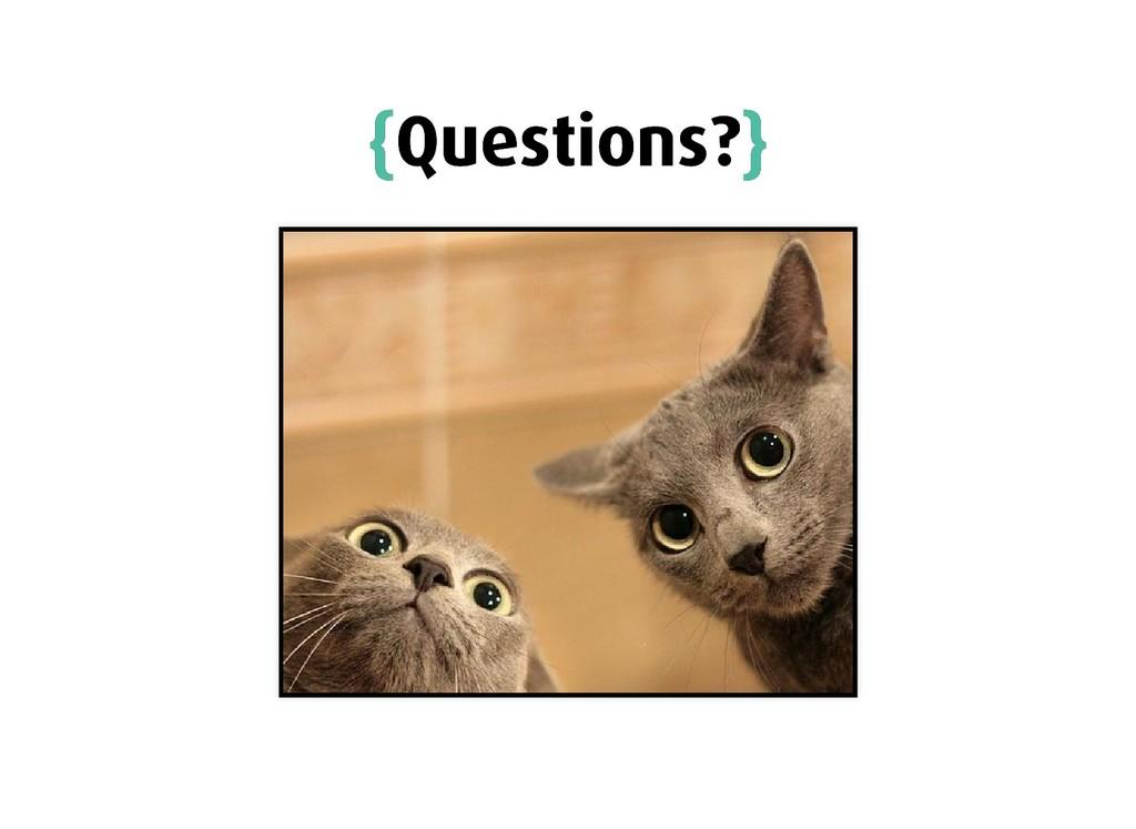 { {Questions? Questions?} }