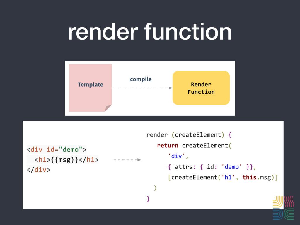 render function