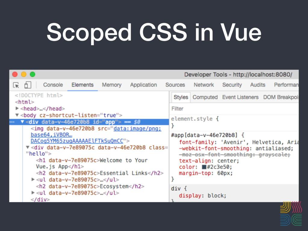 Scoped CSS in Vue