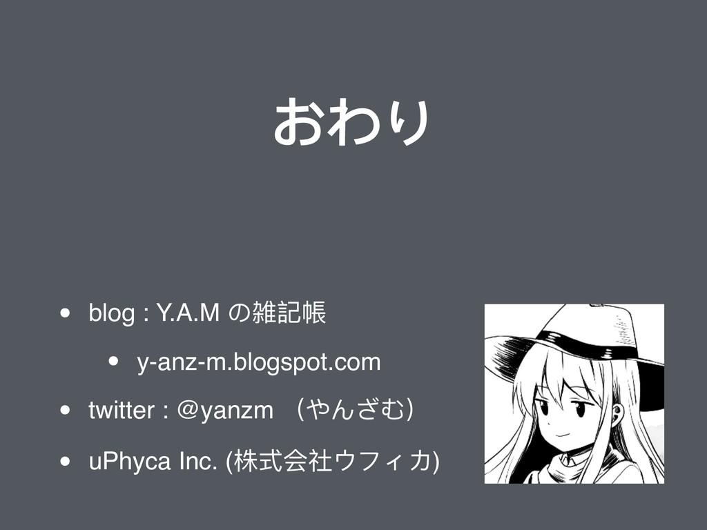 おわり • blog : Y.A.M の雑記帳 • y-anz-m.blogspot.com ...