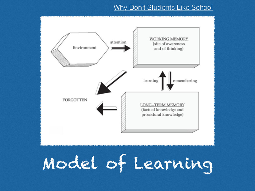 Model of Learning Why Don't Students Like School