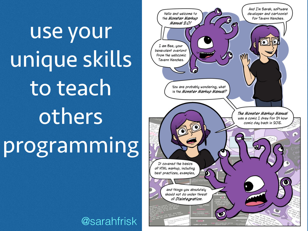 use your unique skills to teach others programm...
