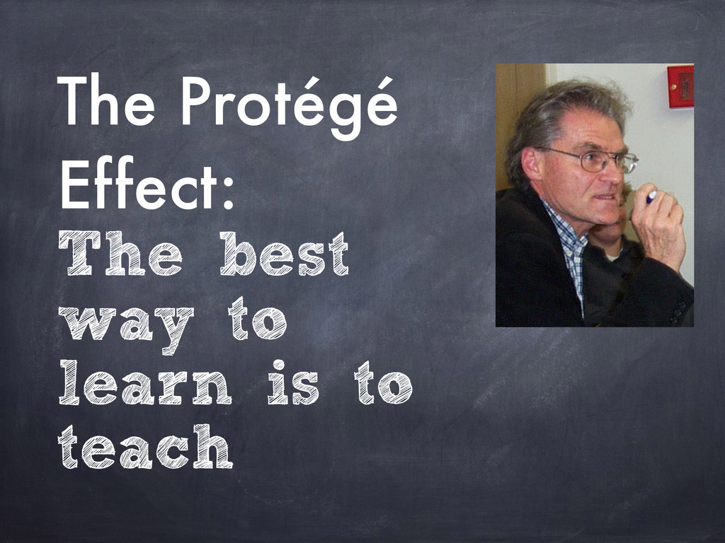 The Protégé Effect: The best way to learn is to...