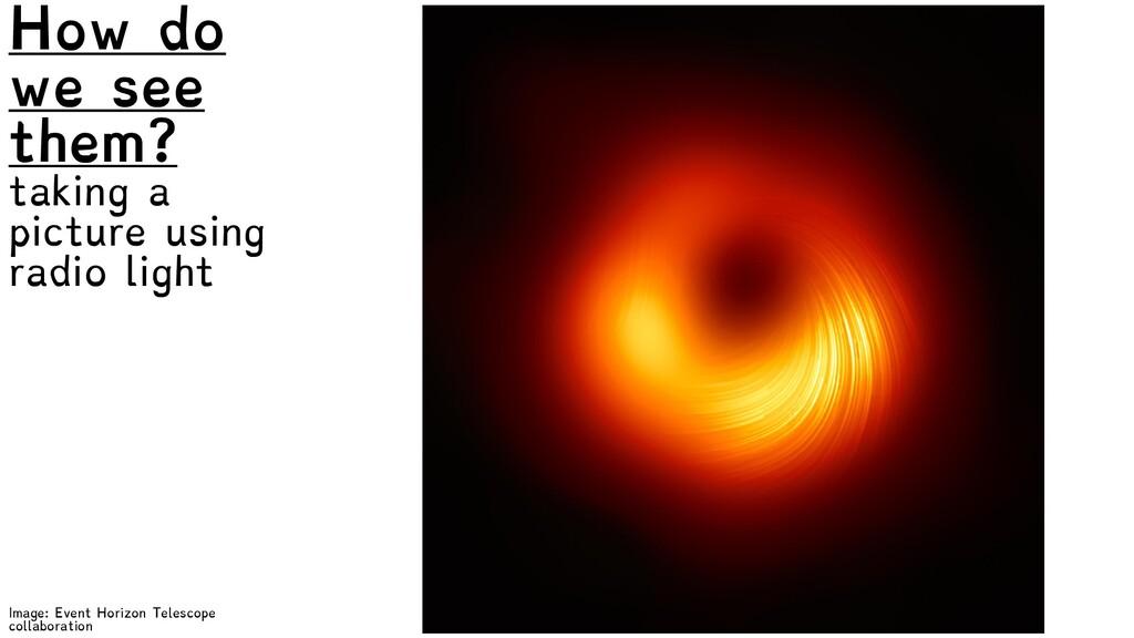 Image: Event Horizon Telescope collaboration Ho...