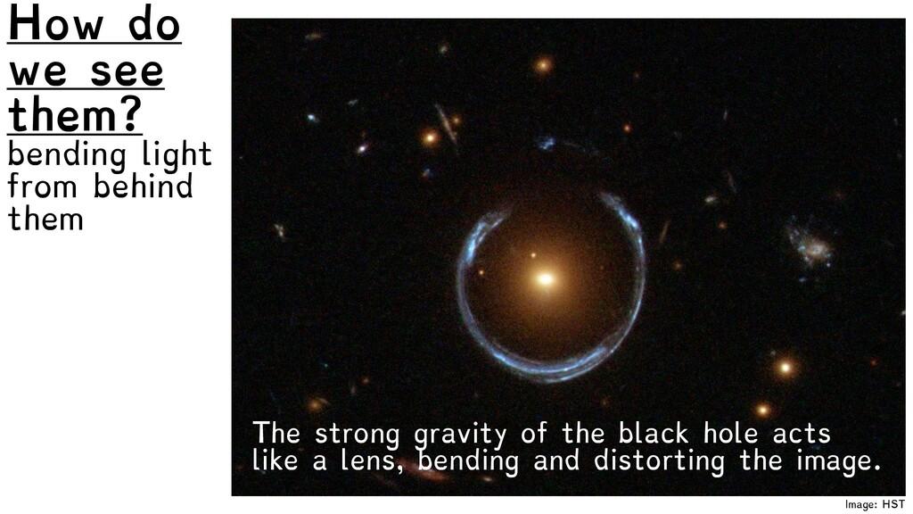 Image: HST How do we see them? bending light fr...