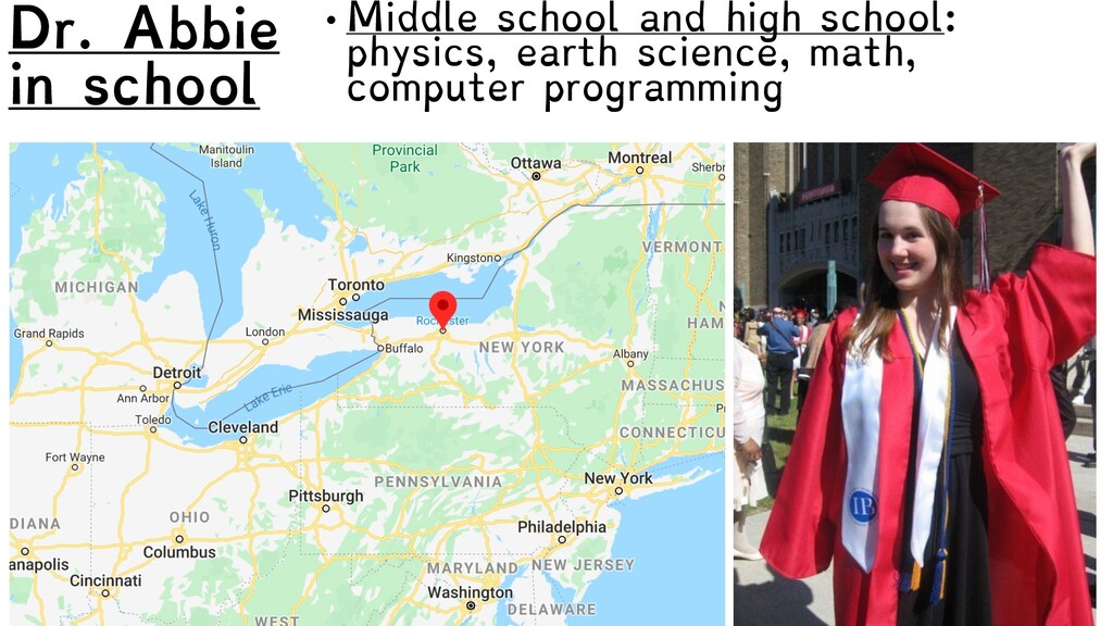 Dr. Abbie in school • Middle school and high sc...
