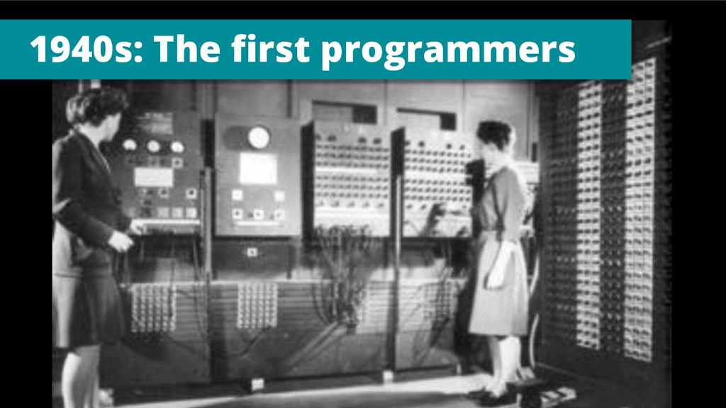 1940s: The first programmers