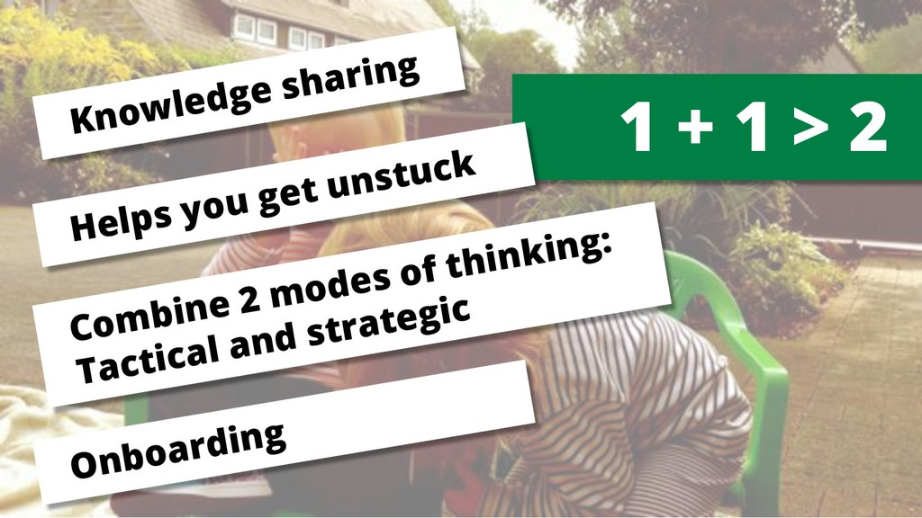1 + 1 > 2 Knowledge sharing Combine 2 modes of ...