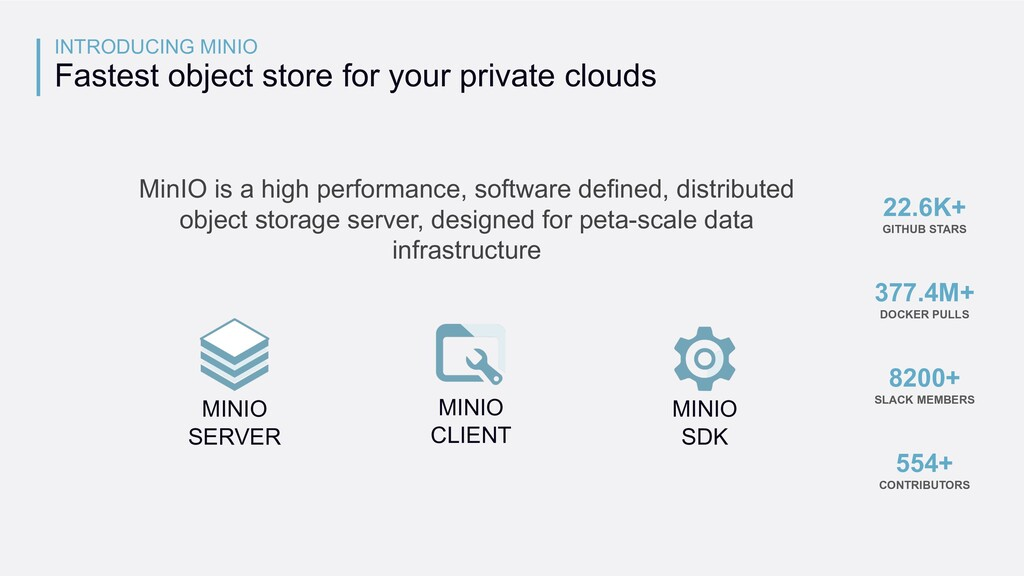 MinIO is a high performance, software defined, ...