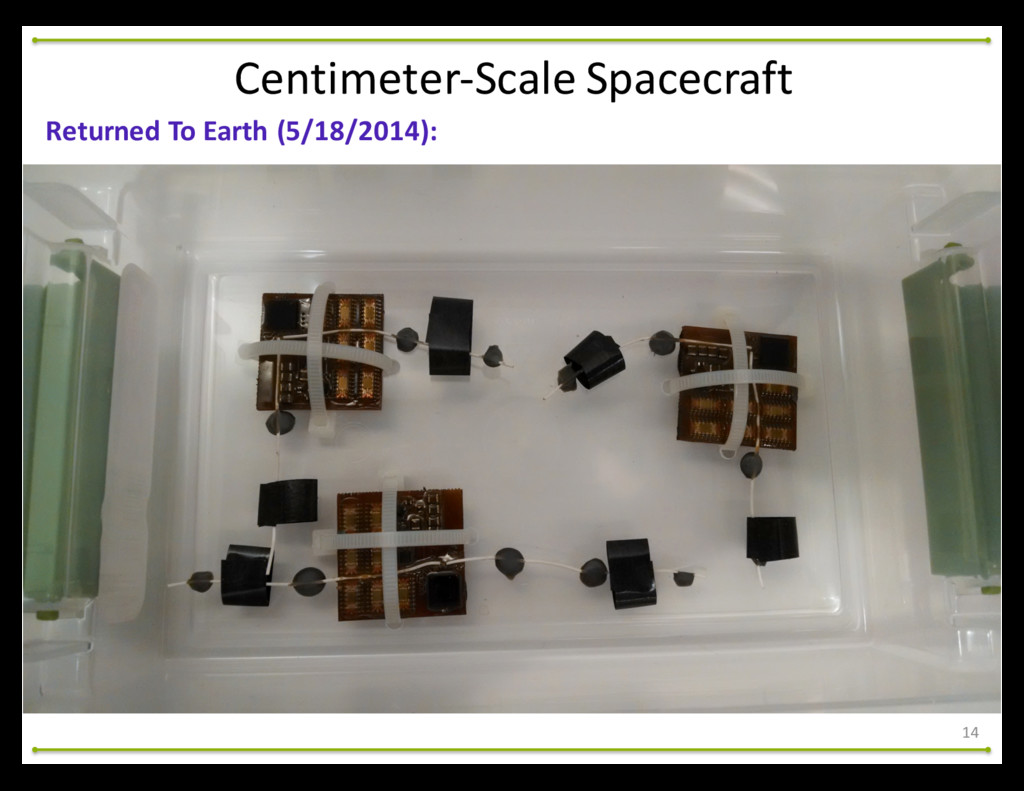 Centimeter-‐Scale Spacecraft Returned To...