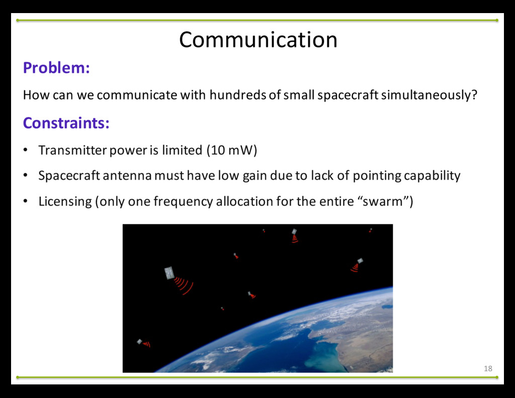 18 Problem: How can we communicate ...