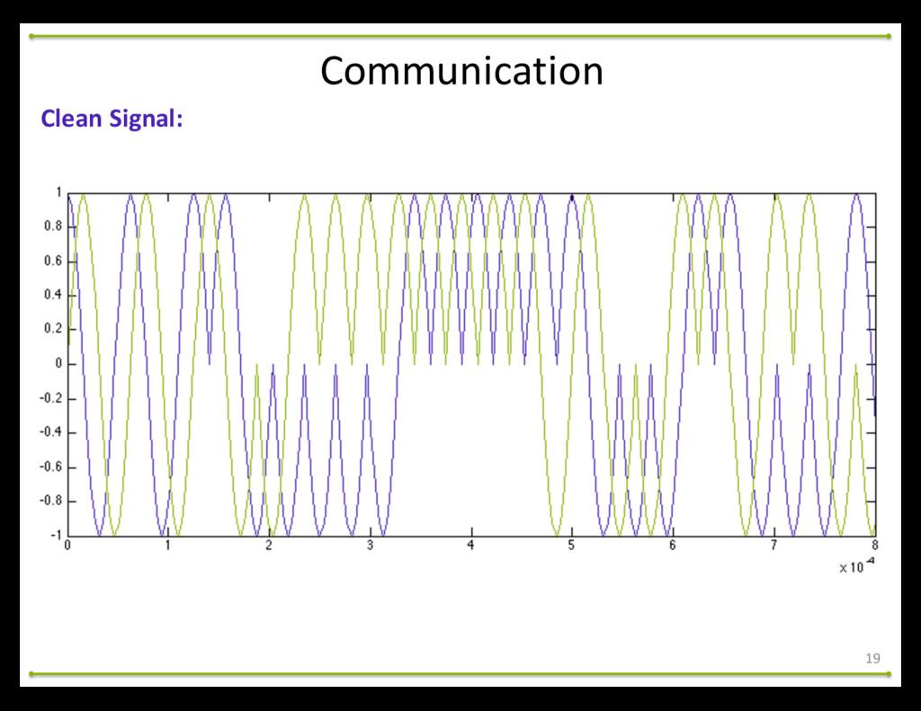 19 Communication Clean Signal: