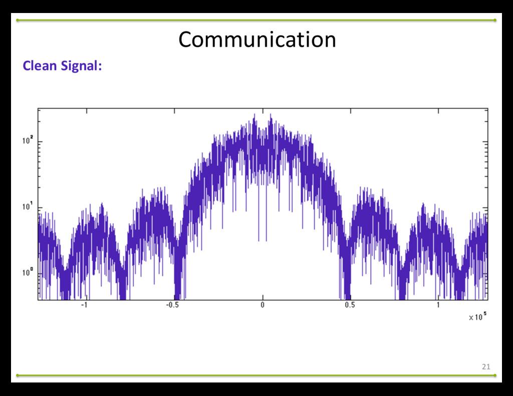 21 Communication Clean Signal: