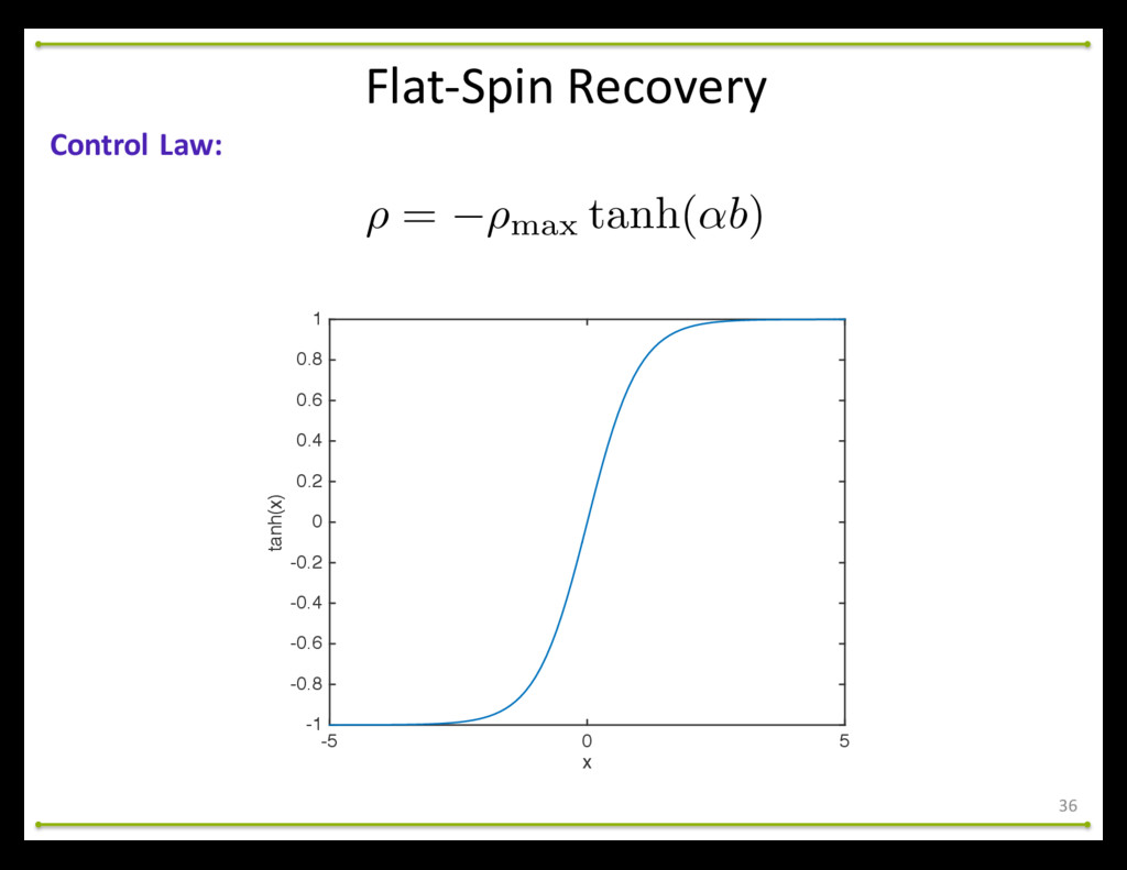 Flat-‐Spin Recovery 36 Control Law: ⇢ = ...