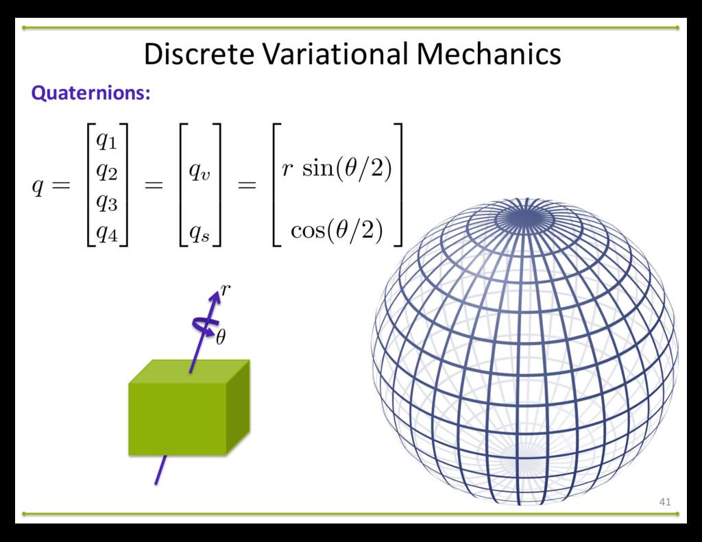 41 Quaternions: Discrete Variational Mech...