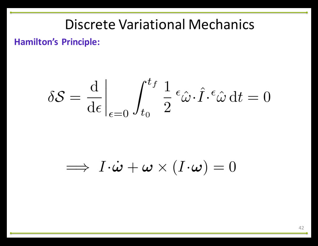 42 Hamilton's Principle: Discrete Variati...