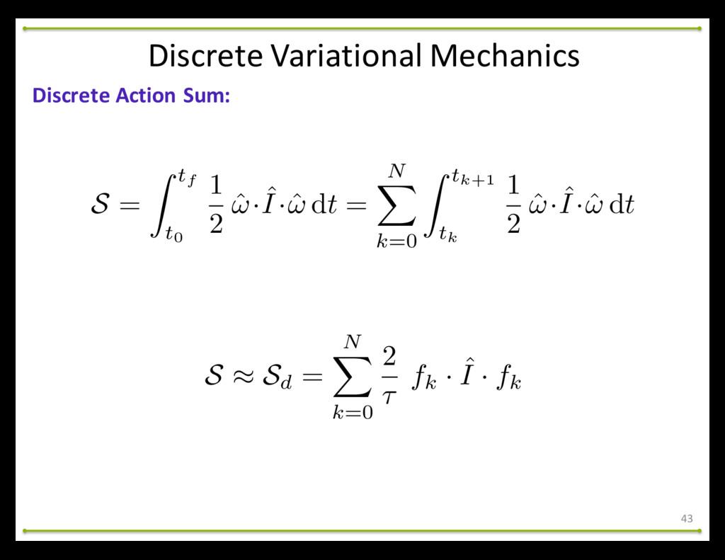 43 Discrete Action Sum: Discrete Varia...