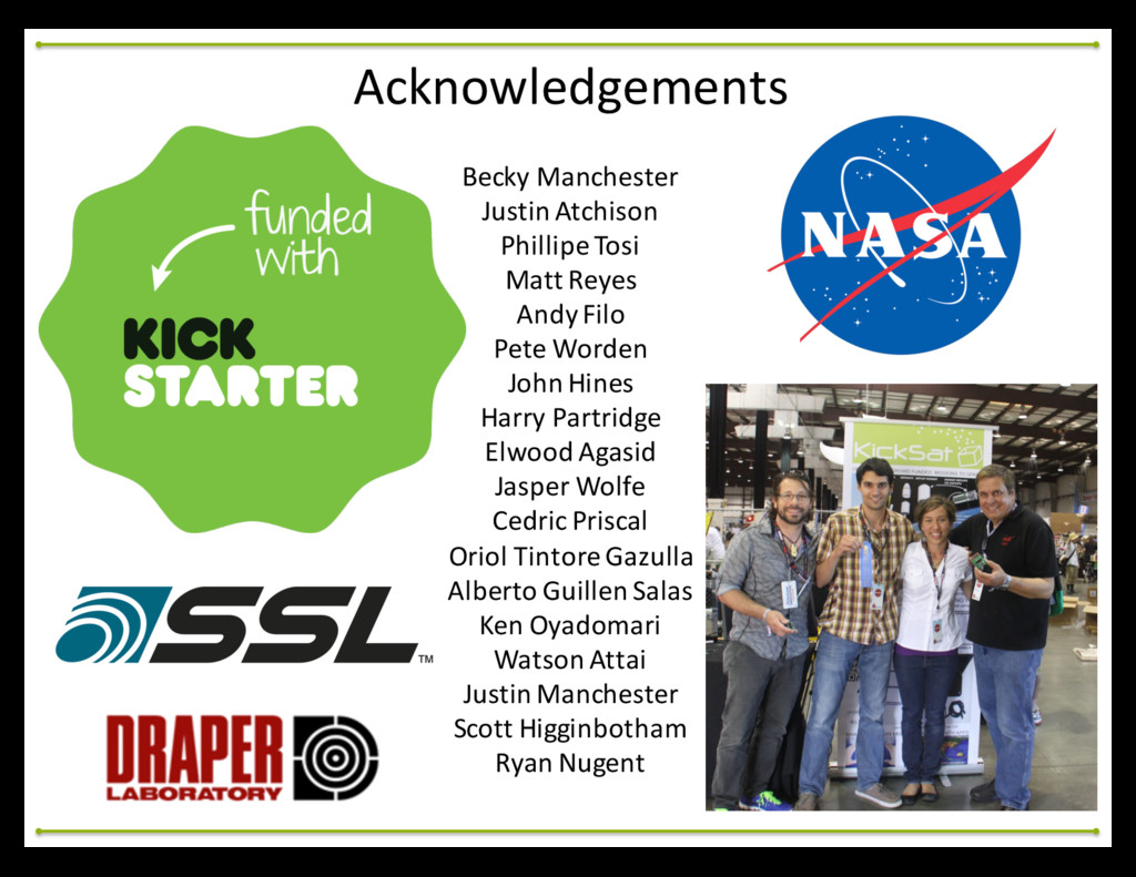 Acknowledgements Becky Manchester Justin ...