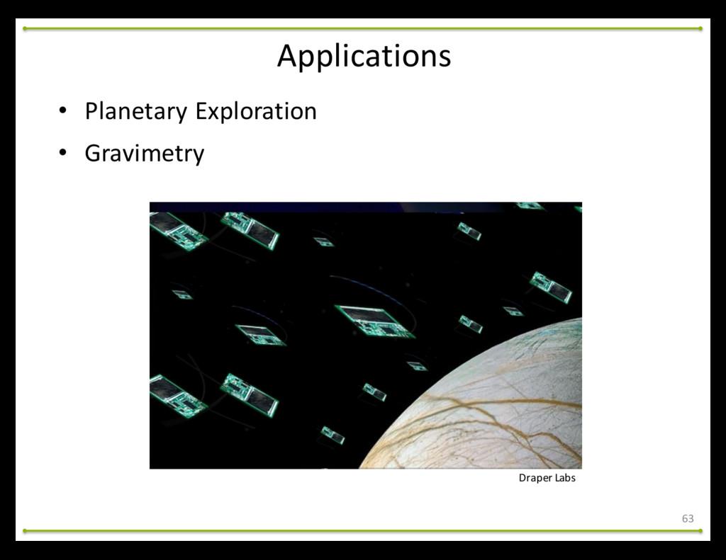 • Planetary Exploration • Gravimetry Draper...