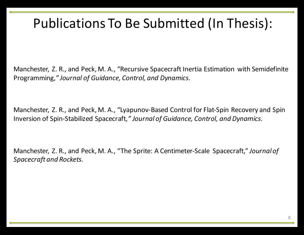 Publications To Be Submitted (In ...