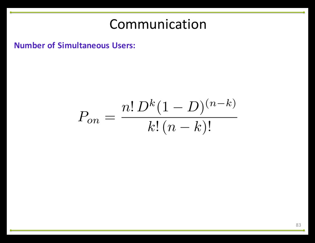 Communication 83 Number of Simultaneous...