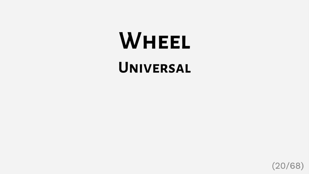 Wheel Universal
