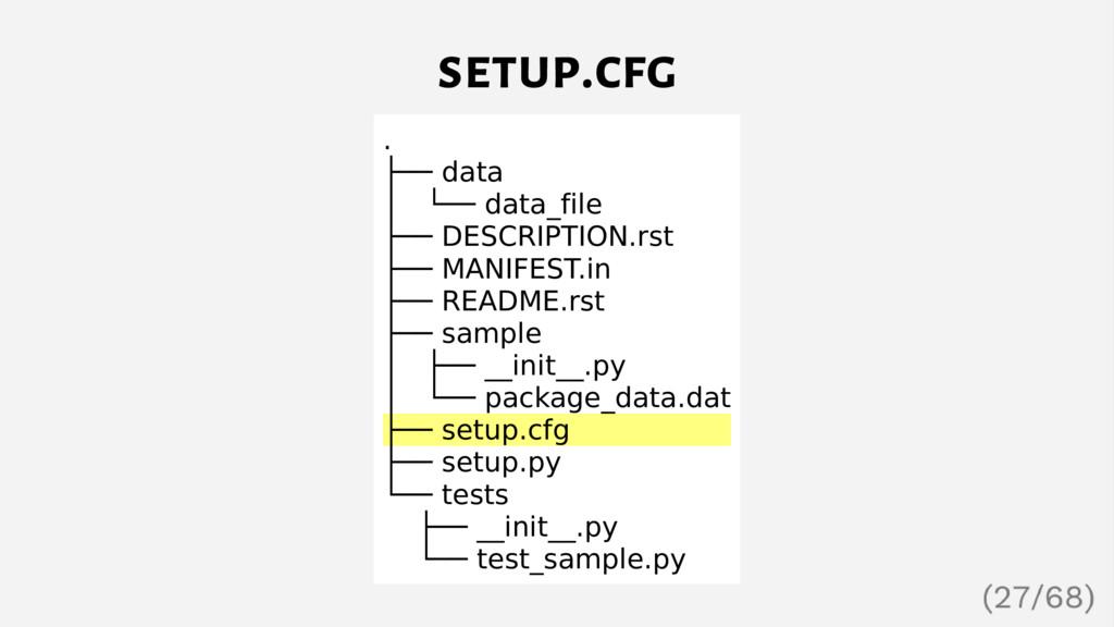 setup.cfg . ├── data │ └── data_file ├── DESCRI...