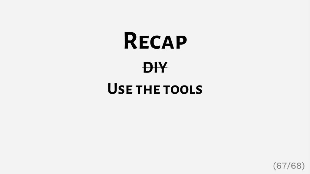 Recap DIY Use the tools