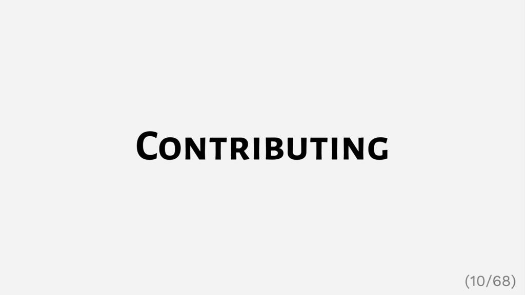 Contributing