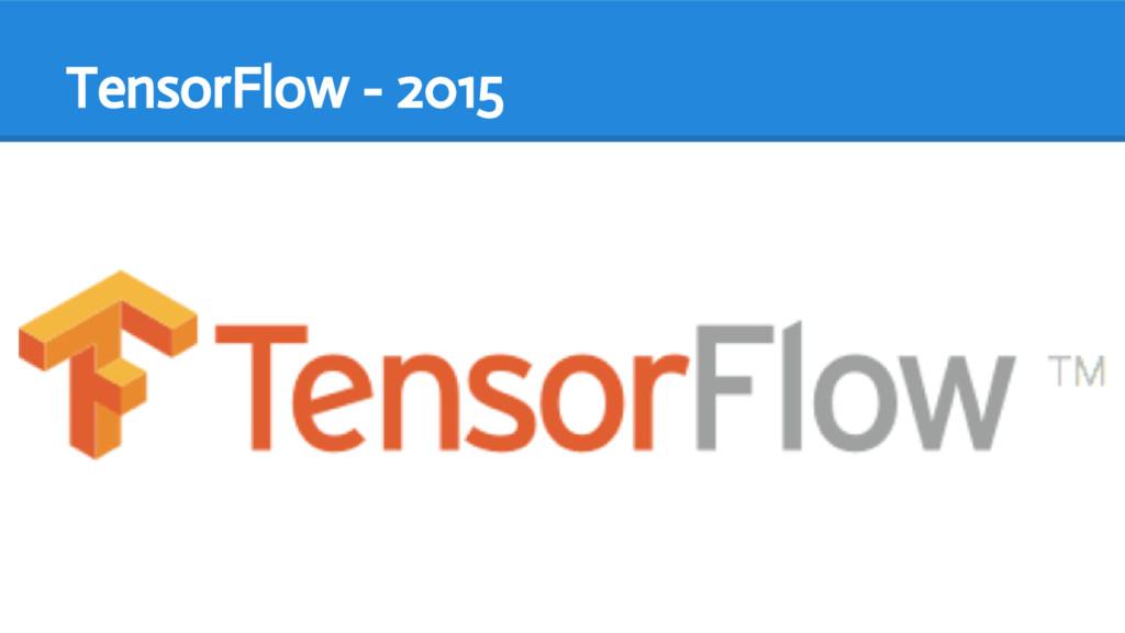 TensorFlow - 2015