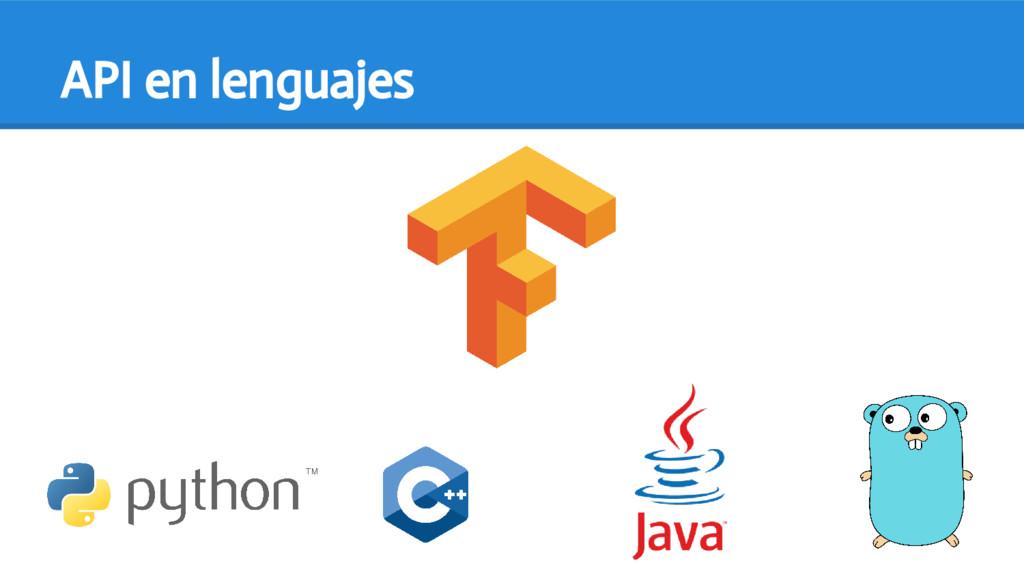 API en lenguajes