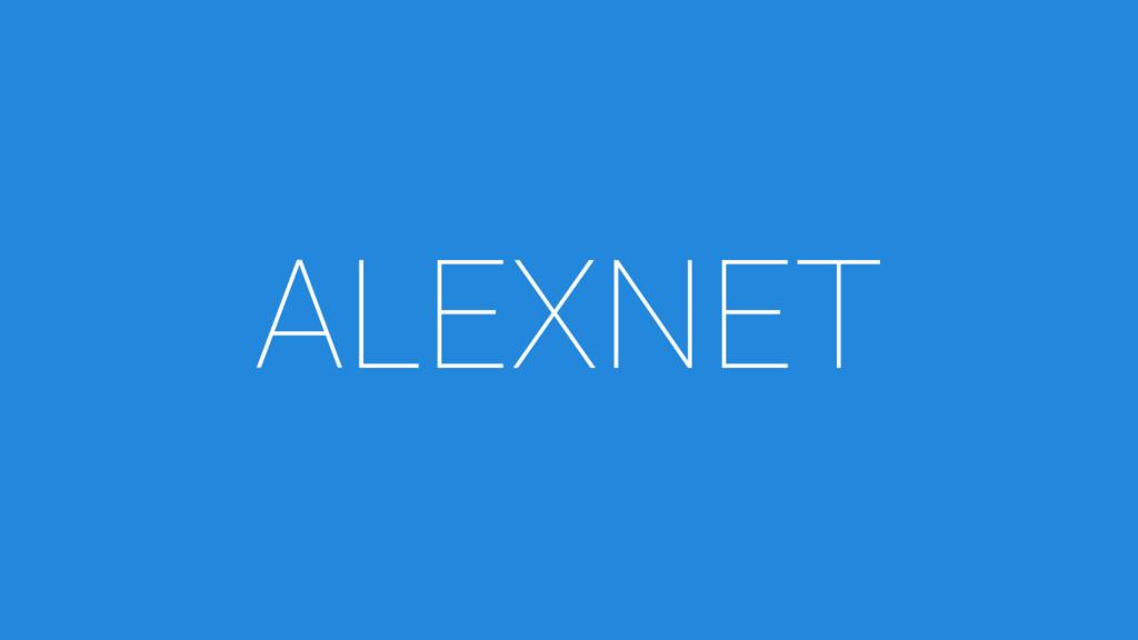 ALEXNET
