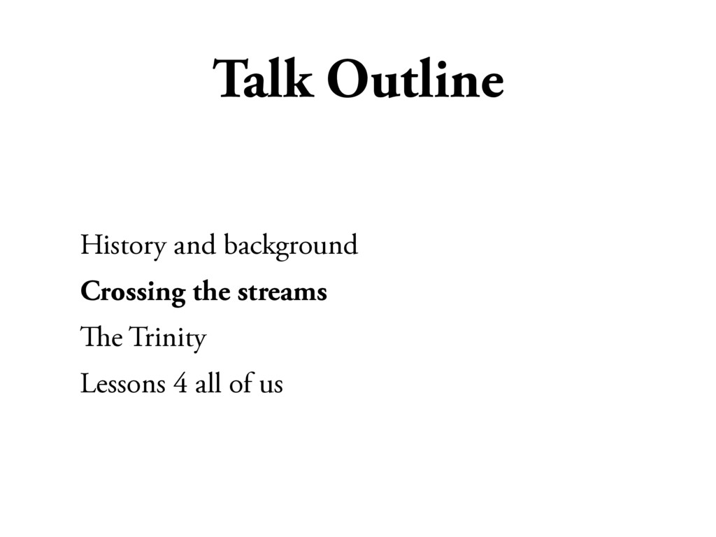 Talk Outline History and background Crossing th...