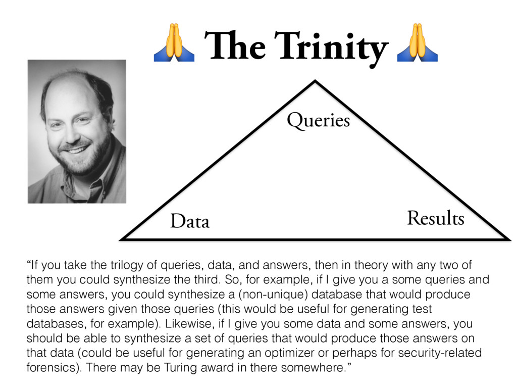 """The Trinity  Data Queries Results """"If you take..."""