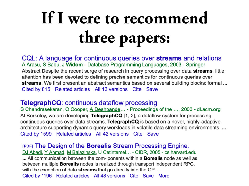 If I were to recommend three papers:
