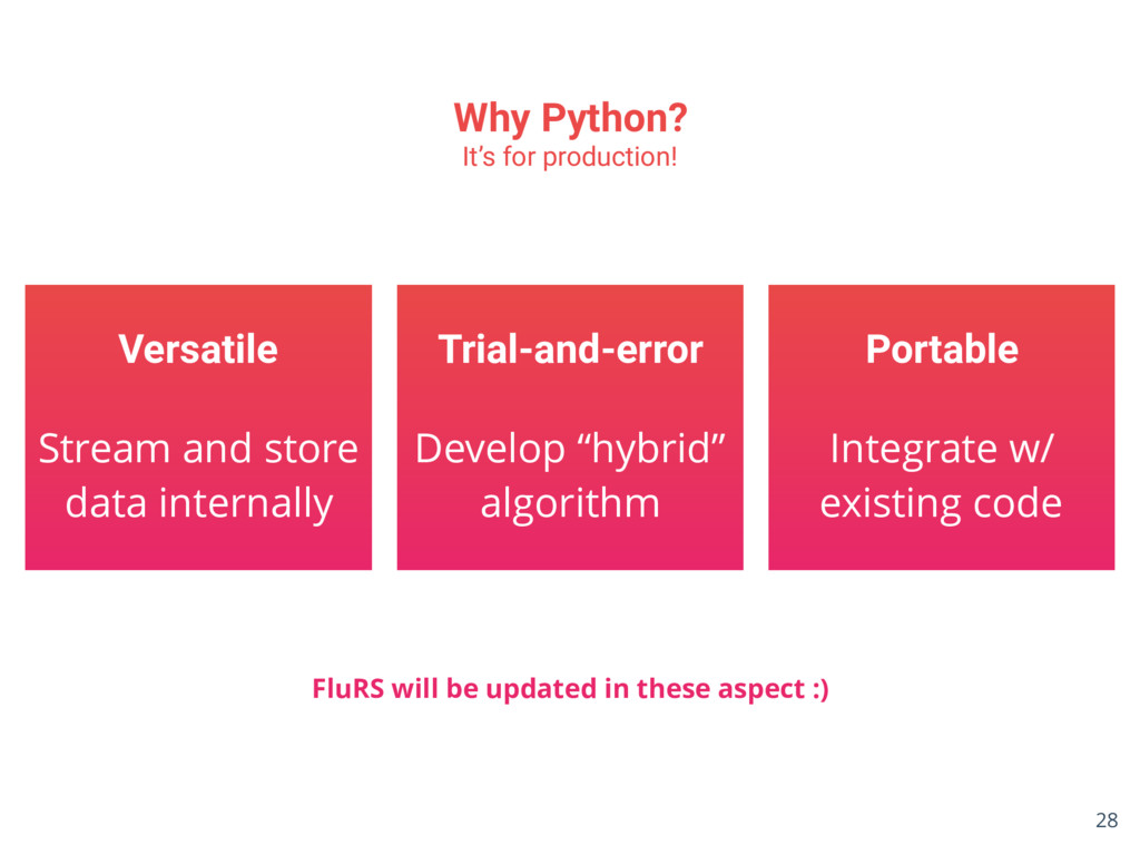 Why Python? It's for production! Versatile Stre...
